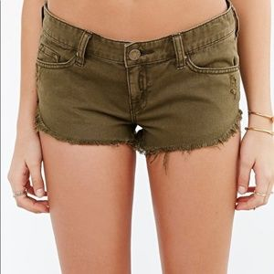 Urban Outfitters BDG Green Low-Rise Dolphin Shorts